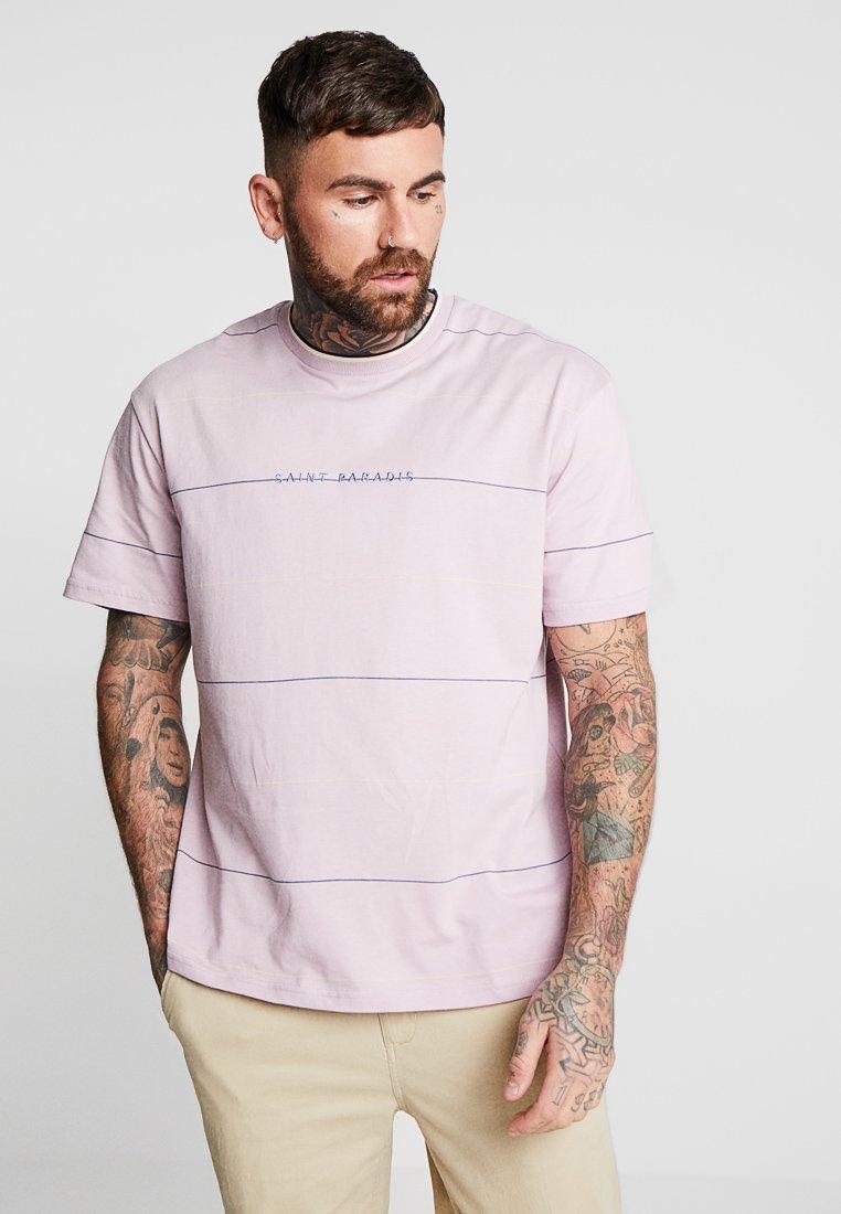 Topman - LIL STRIPE - Print T-shirt - lilac