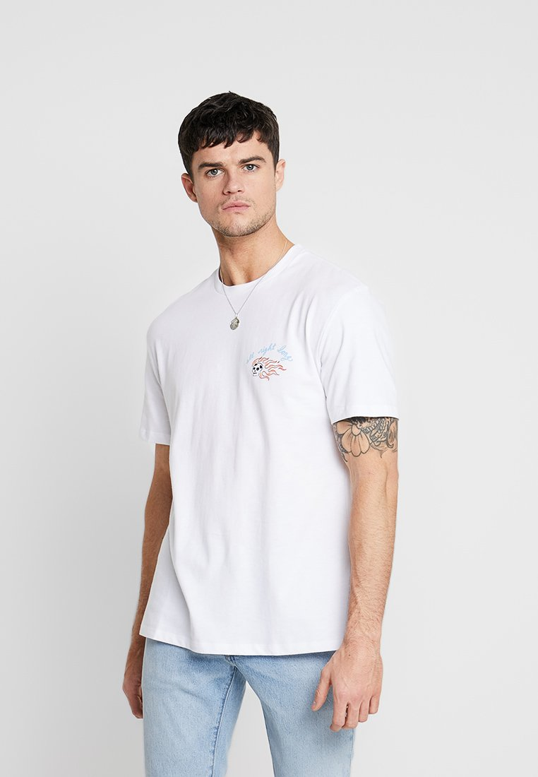 Topman - HOT ROD - T-shirt con stampa - white