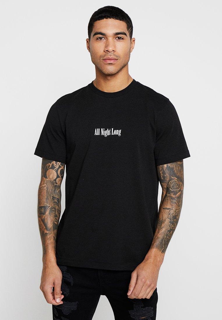 Topman - ALL NIGHT LONG - T-Shirt print - black