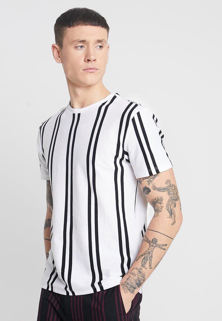 Topman - LUKE  - T-Shirt print - white