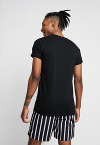 Topman - SKIN SLUB  - T-shirt basique - black - 2