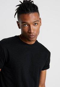 Topman - SKIN SLUB  - T-shirt basique - black - 4