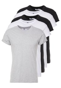 Topman - 5 PACK - Jednoduché triko - white/black/grey - 0