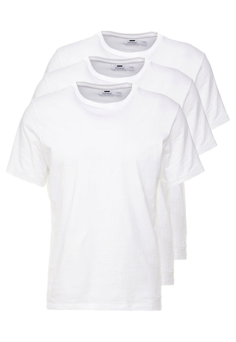 Topman - 3 PACK - Basic T-shirt - white