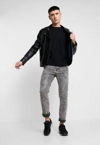 Topman - 3 PACK - T-shirt - bas - black - 1