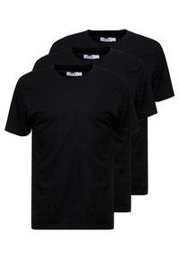 Topman - 3 PACK - T-shirt basic - black - 0