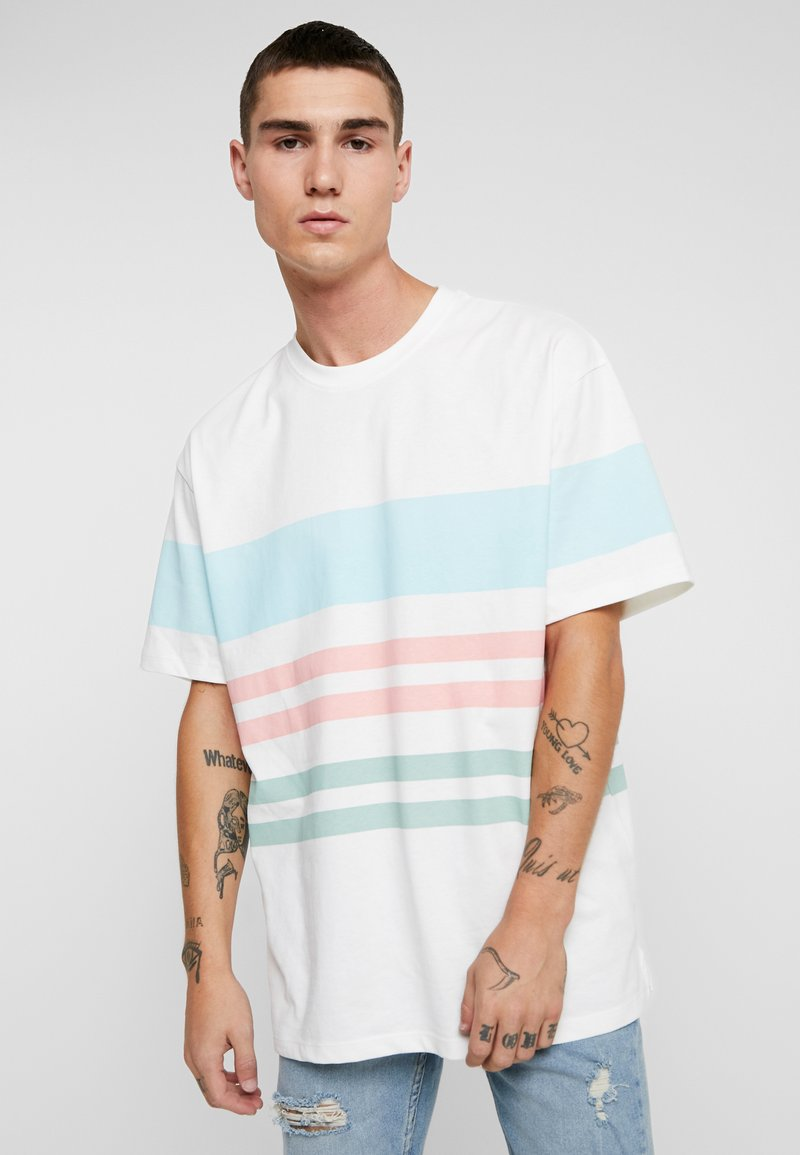 Topman - ECRU TEDIUM  - T-shirt med print - white