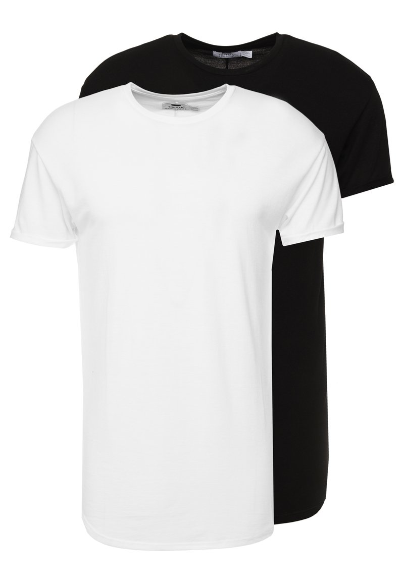 Topman - SCOTTY 2 PACK - T-shirts - black/white