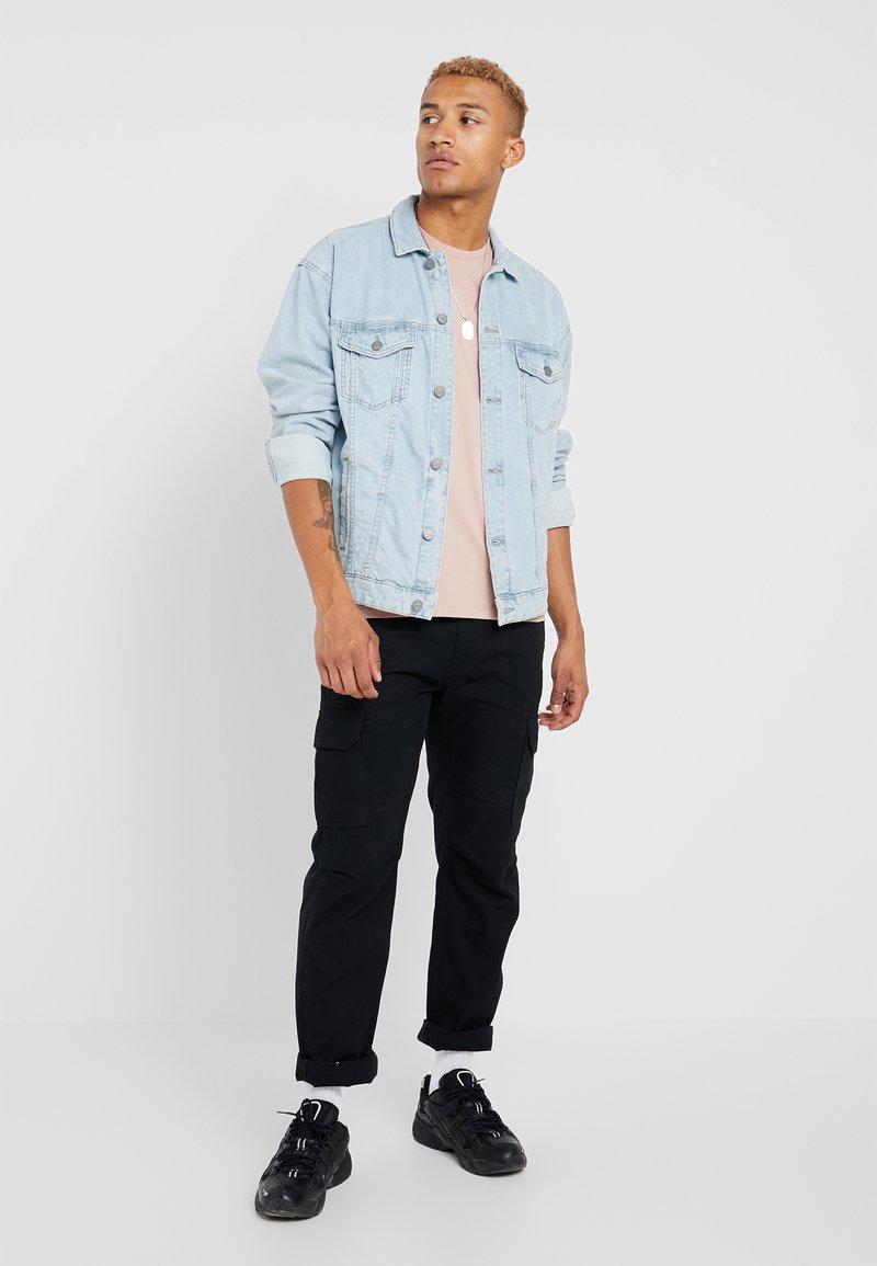 Topman - 3 PACK - T-Shirt basic - blue/off-white/nude