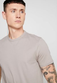 Topman - 7 PACK - T-shirts - grey/white/ red - 7