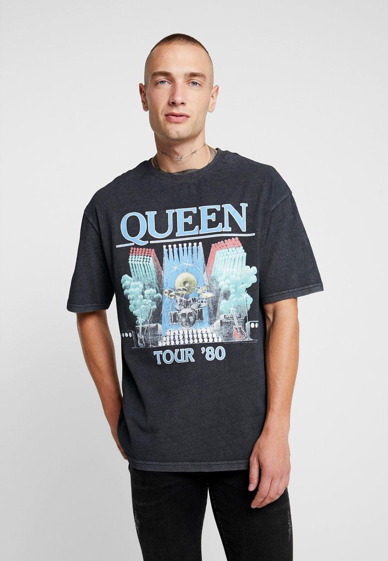 Topman - QUEEN - T-Shirt print - black