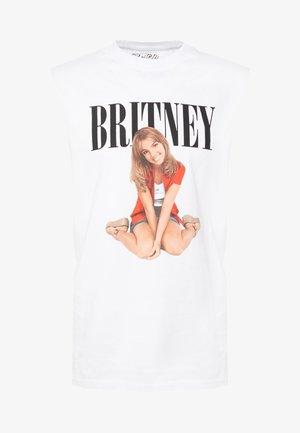 BRITNEY VEST - T-shirt z nadrukiem - white