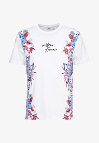 Topman - SIDE FLORAL TEE - T-shirt med print - white - 4
