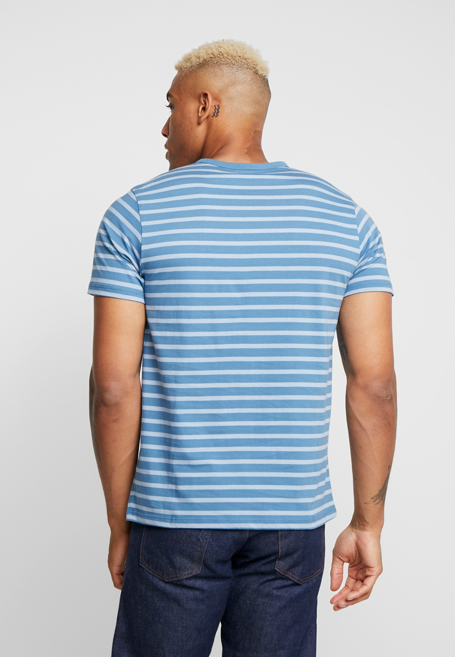 Marl Blue HarryT shirt Topman Imprimé 45AjLR