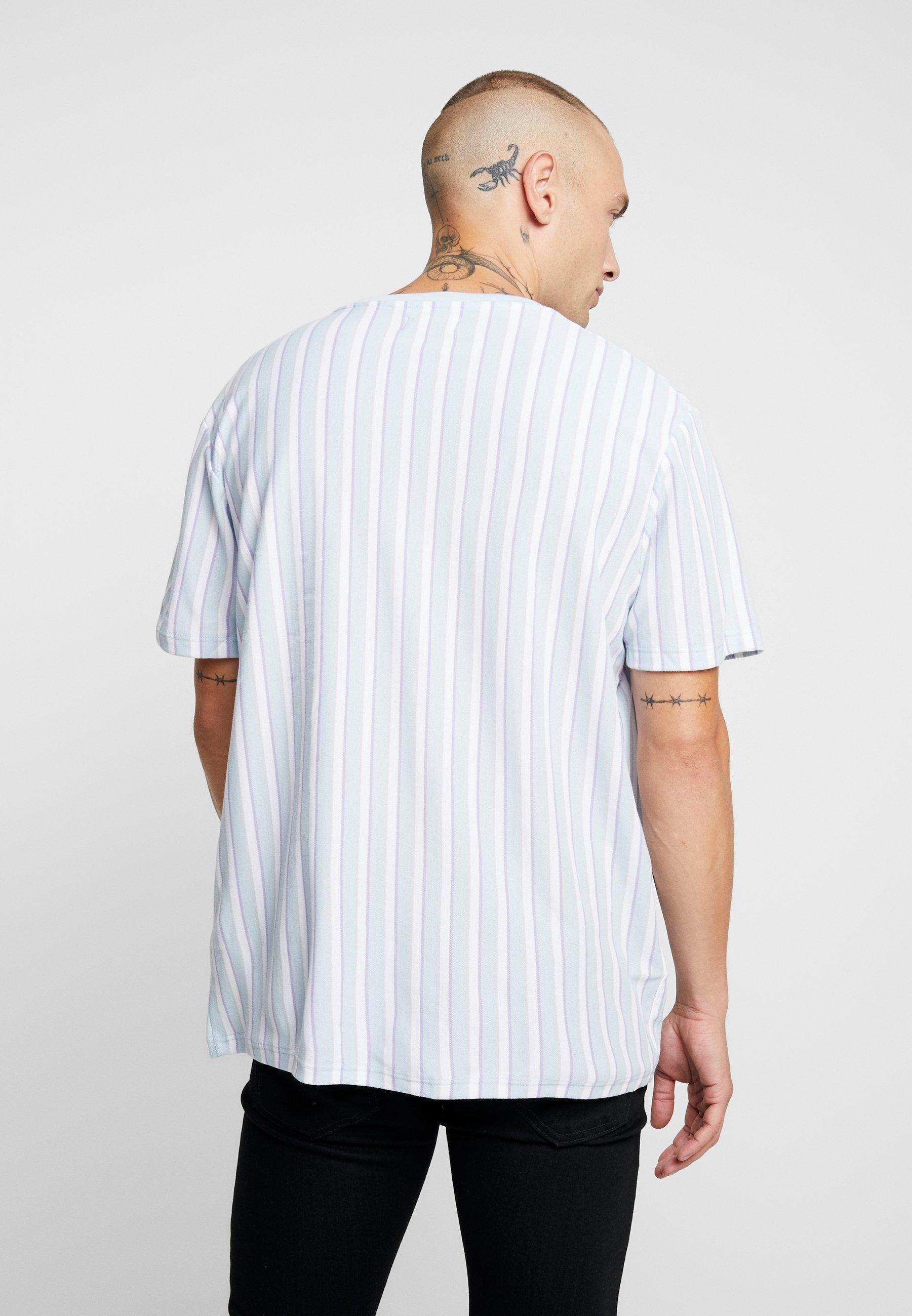 Blue Topman Pastel Imprimé StripeT shirt CeWdBrxo