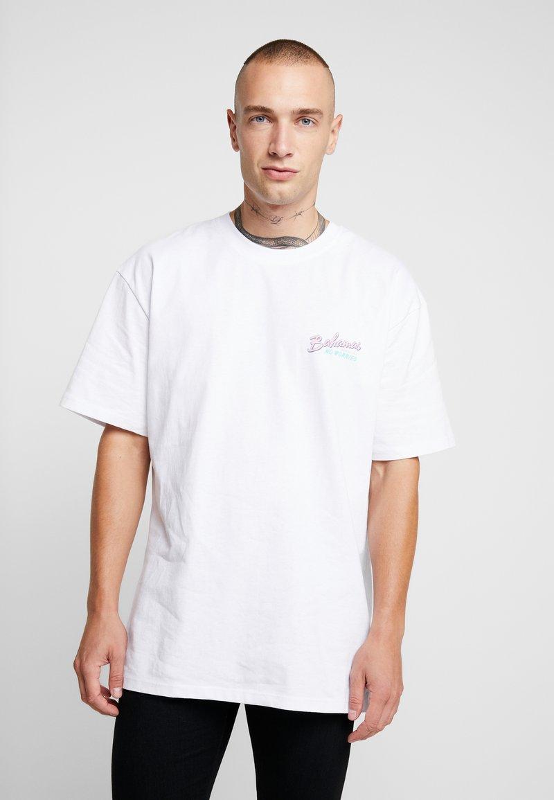 Topman - BAHAMAS TEE - T-Shirt print - white
