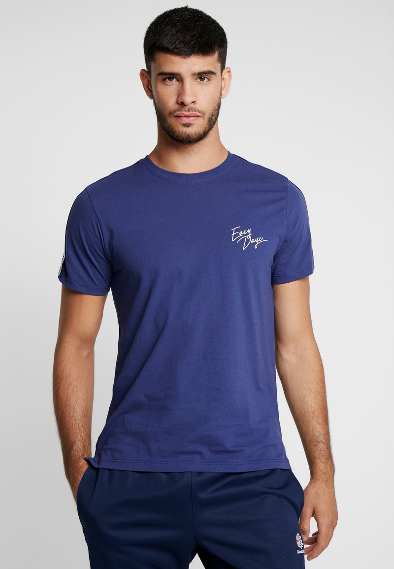 Topman - TAPED EASY LIFE TEE - T-Shirt print - navy
