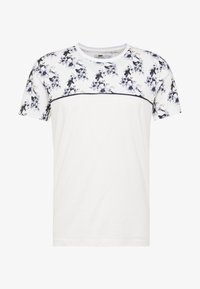 Topman - FLORAL TOP PANEL HANDEL TEE - T-shirt med print - white - 3