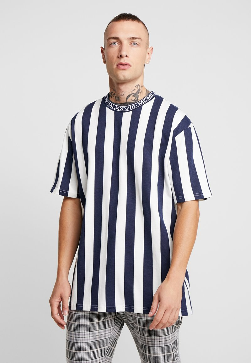 Topman - OFF SID  - T-shirt con stampa - navy