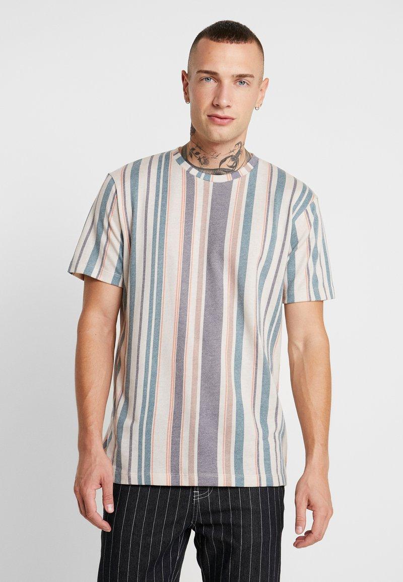 Topman - STRIPE SNIT - T-shirt con stampa - multi