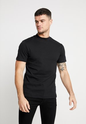 TURTLE NECK - T-shirts med print - black