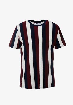 MIX VERTICAL STRIPE - T-shirt con stampa - bordeaux