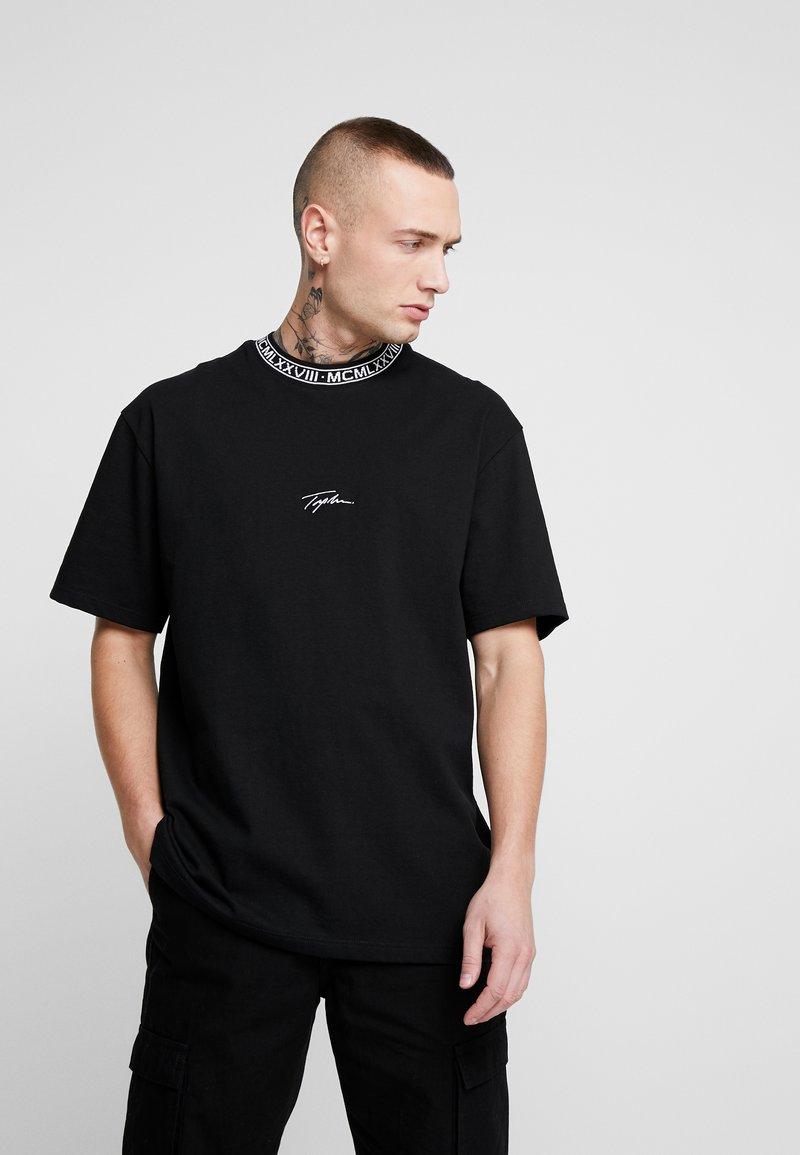Topman - TEE - T-shirt con stampa - black