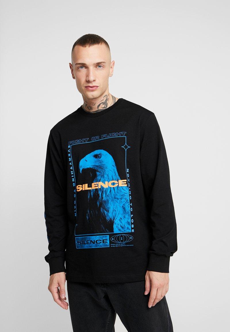 Topman - SILENCE NEON TEE - Bluzka z długim rękawem - black