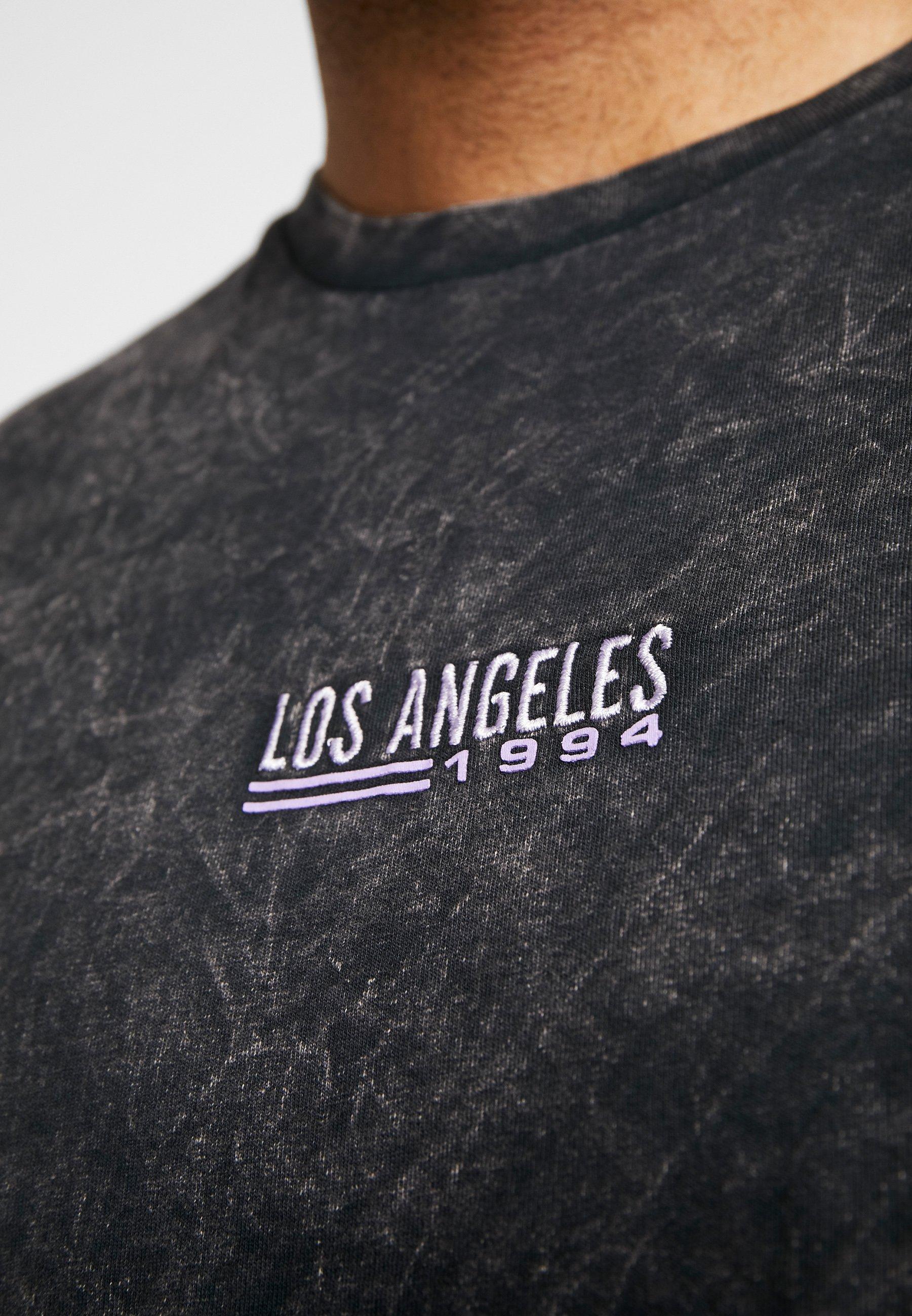 Topman T-shirt z nadrukiem - black
