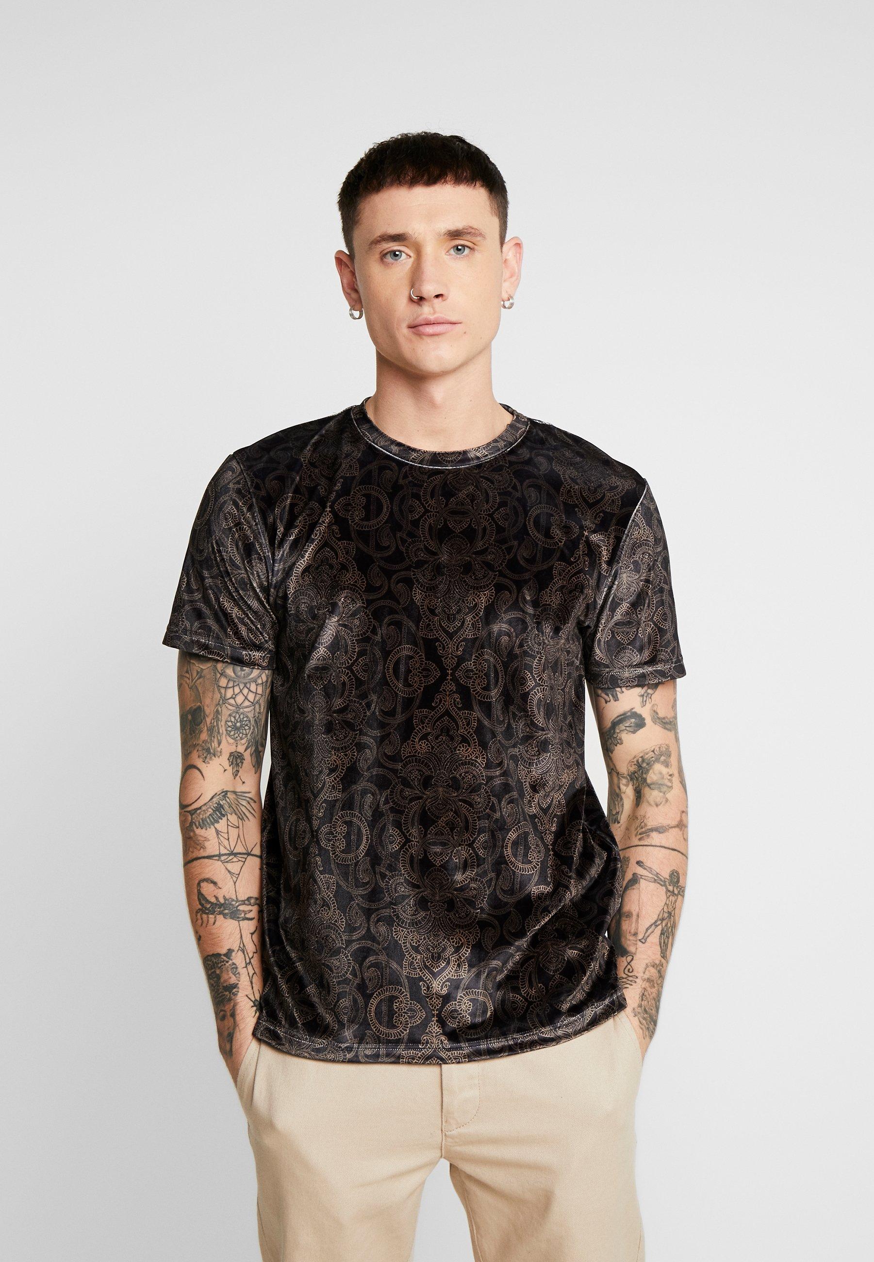 Shirt TEET BAROQUE Topman print black A34cjLq5R