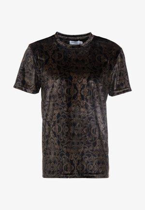 BAROQUE TEE - T-shirt z nadrukiem - black