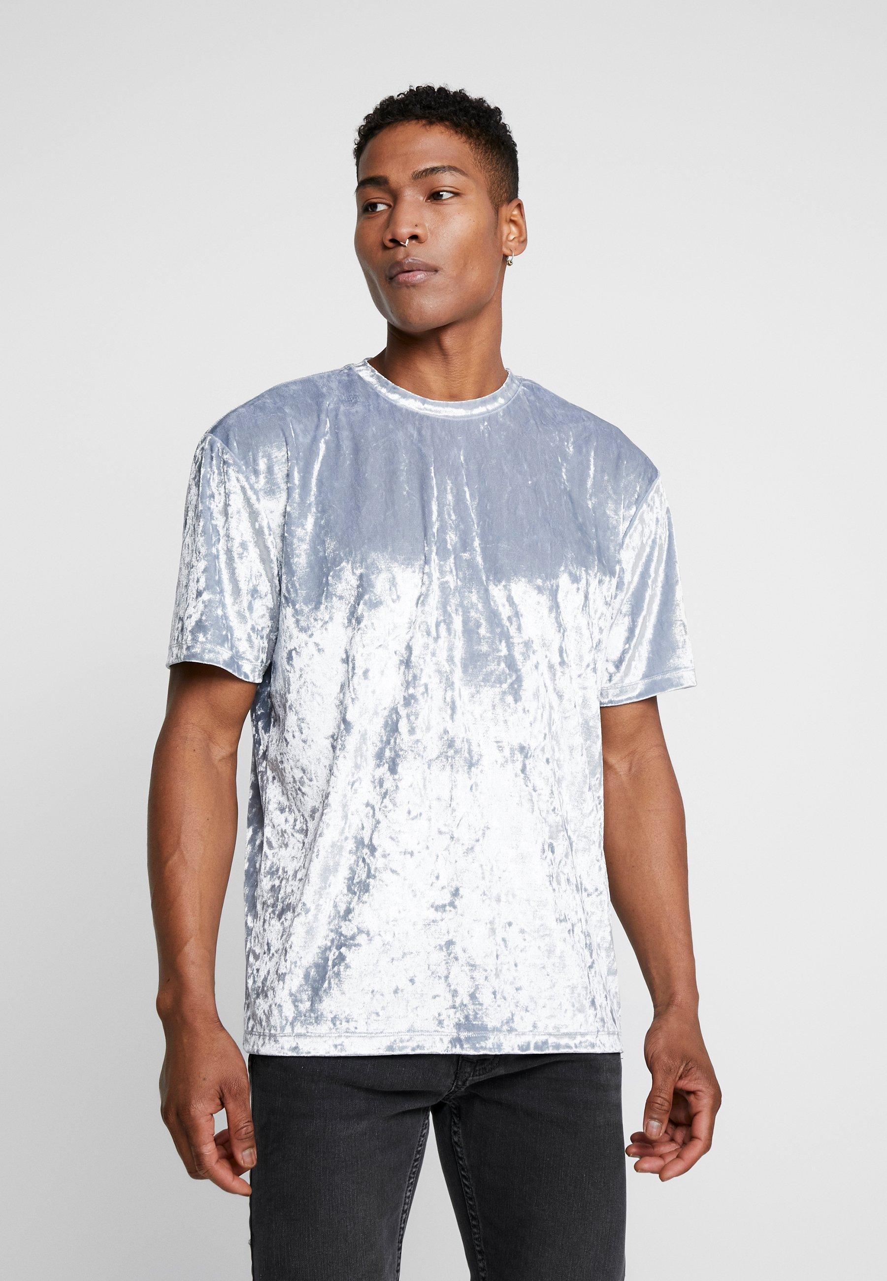 Topman CRUSHED TEE - T-shirt basic - silver