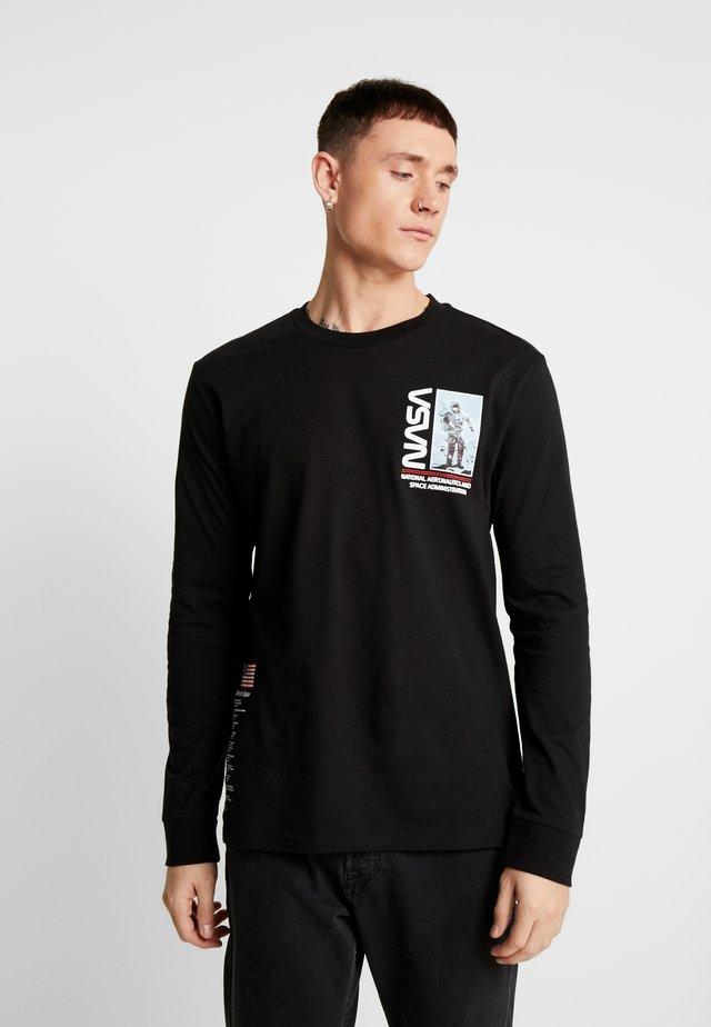 NASA TEE - Long sleeved top - black