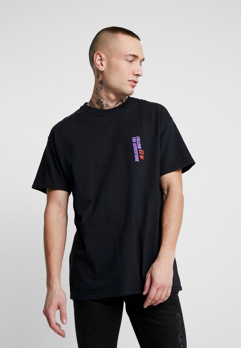 Topman - KYOTO TEE - T-shirt con stampa - black