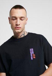 Topman - KYOTO TEE - T-shirt imprimé - black - 4
