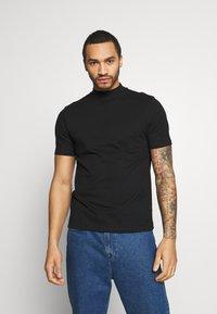 Topman - TURTLE 2 PACK - T-shirt - bas - black - 2