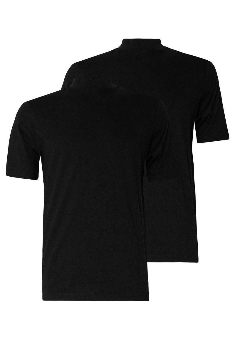 Topman - TURTLE 2 PACK - T-shirt - bas - black