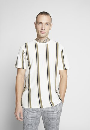 LUKE STRIPE - T-Shirt print - white