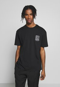 Topman - EVER MONO TEE - T-shirt imprimé - black - 0