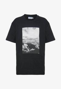 Topman - MONO TEE - T-shirt med print - black - 3