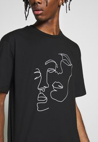 Topman - SKETCH TEE - T-shirt print - black - 4