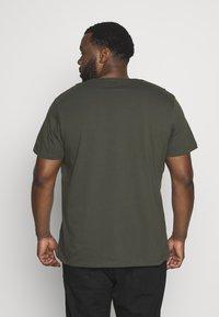 Topman - CLASSIC 3 PACK - T-shirt basic - white/khaki/tan - 2