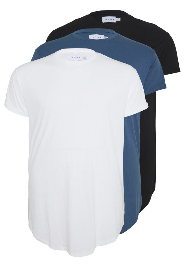 SCOTTY 3PACK - T-shirt basic - white/black/blue