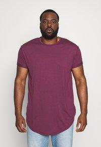 Topman - SCOTTY  3 PACK - Jednoduché triko - white/dark blue/burgundy - 1