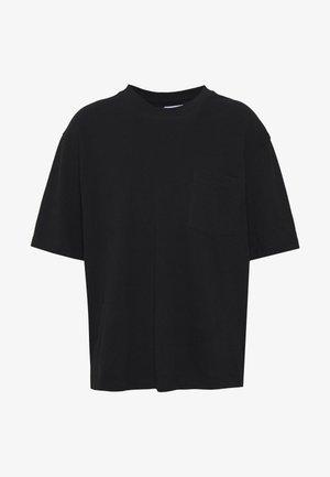 BOXY ORGANIC TEE - T-shirt - bas - black