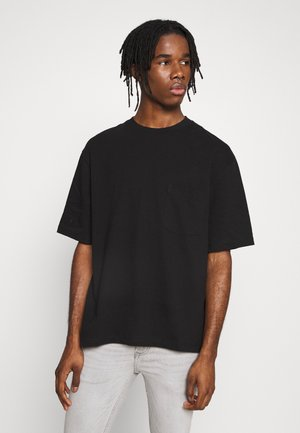 BOXY ORGANIC TEE - Basic T-shirt - black