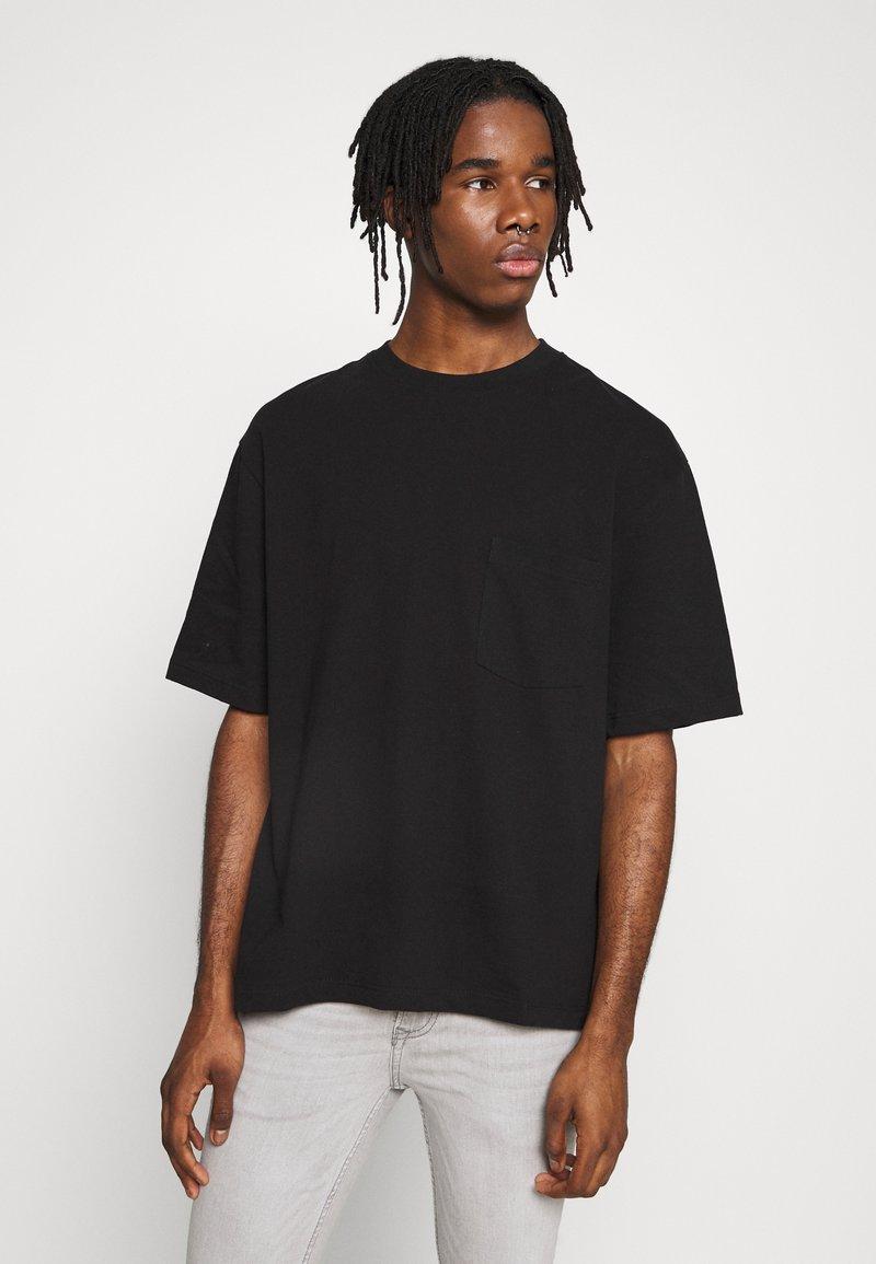 Topman - BOXY ORGANIC TEE - T-Shirt basic - black