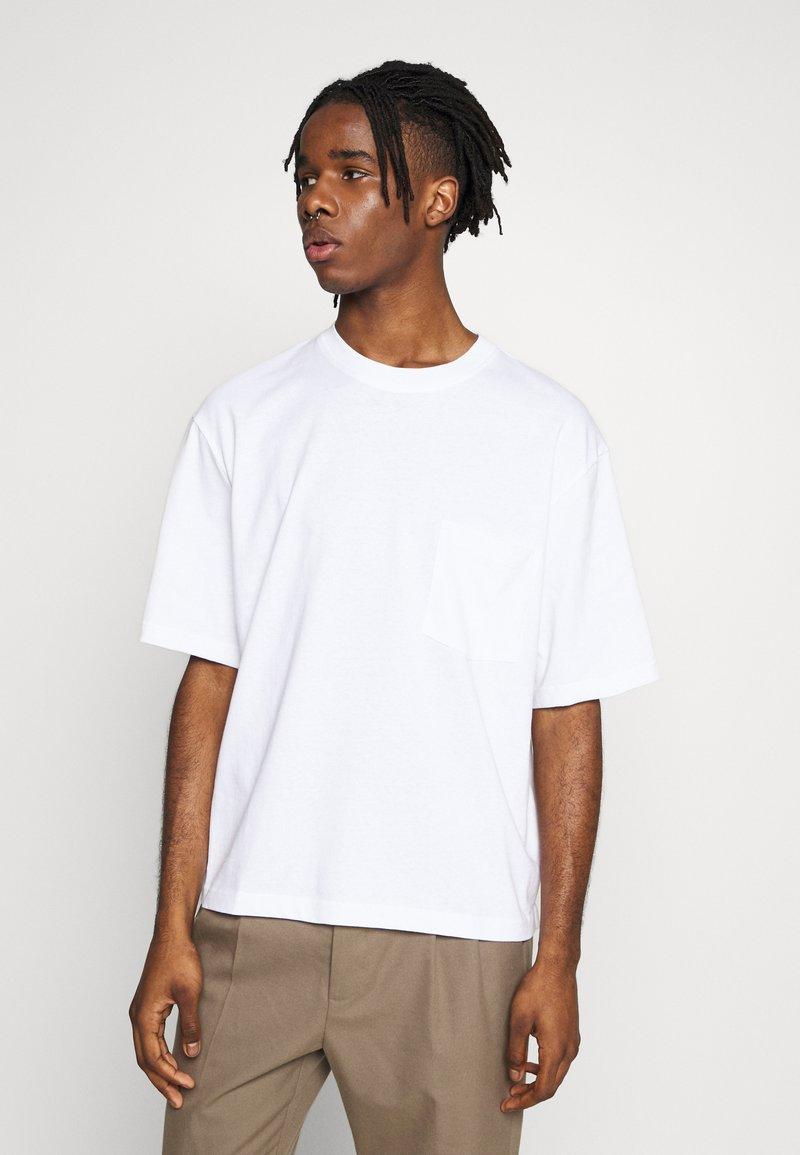 Topman - BOXY ORGANIC TEE - T-shirt basic - white