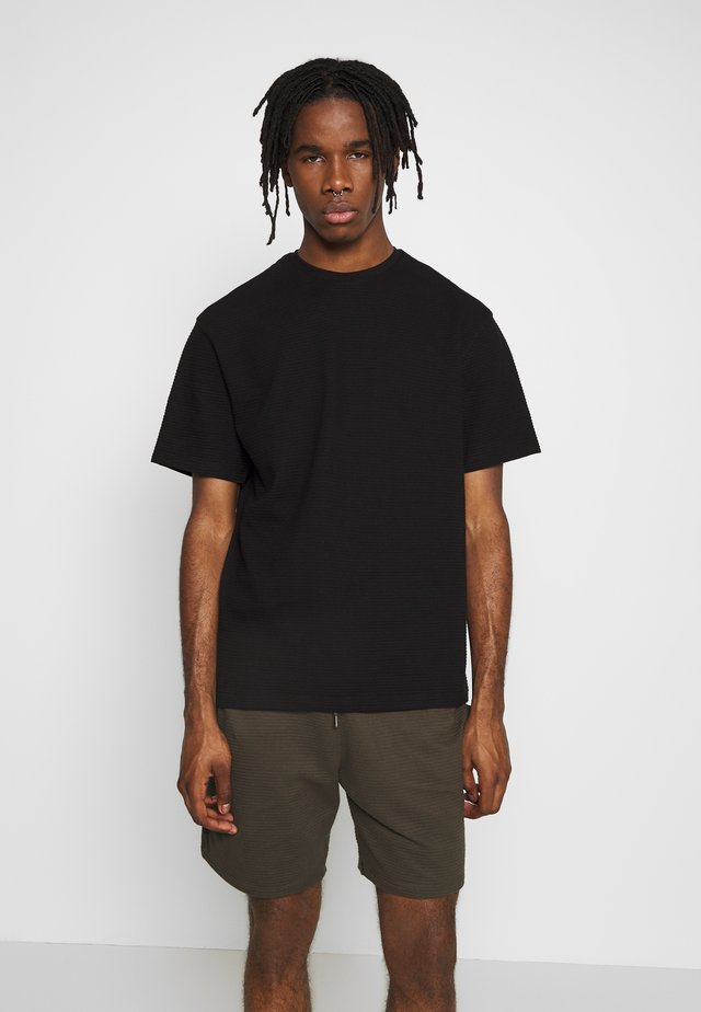 STRUCTURED TEE - T-Shirt basic - black