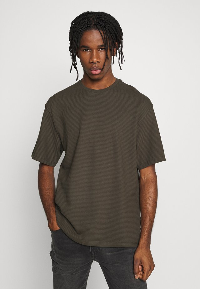 RIFLE STRUCTURED TEE - T-Shirt basic - khaki